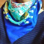 エルメスのスカーフで カウボーイ巻!