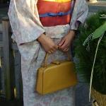 初詣のファッション 今日の着物