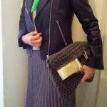 ライダースジャケットのコーデ⑤ プチフラ服と合わせたら?