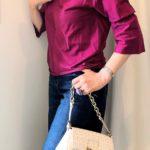 モダンブルーで買った FENDIのバッグのコーデ