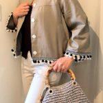 ひも靴に 秋のジャケットとパンツのコーデ