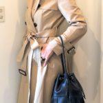 トレンチコート 50代のコーデ 綺麗なシルエットに感動!