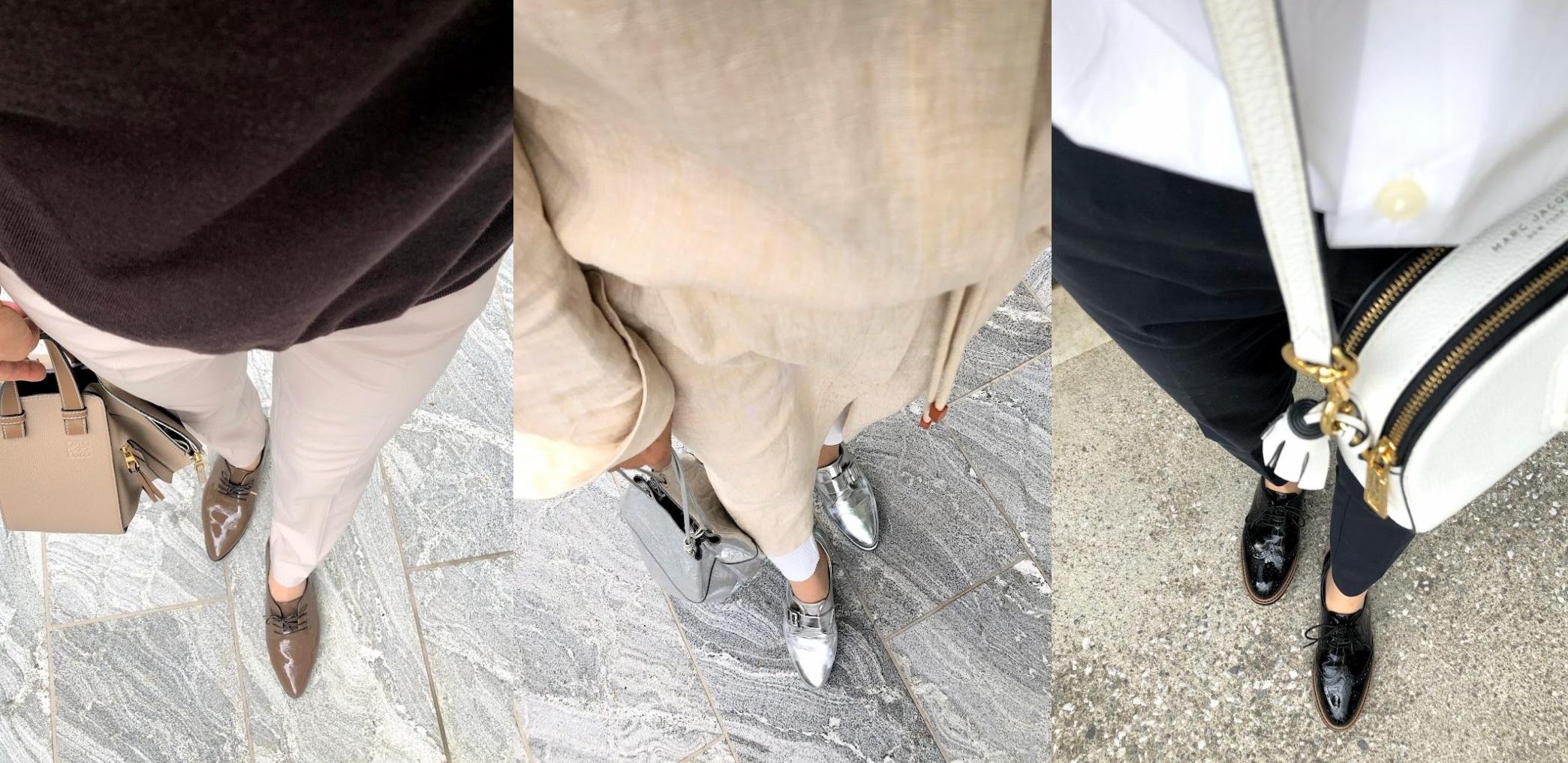 おじ靴コーデ足元